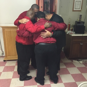 It was beautiful to see the siblings huddled together after the bereavement dinner. It was just something they have been doing since the passing of their parents some years back. The family wore red in honor of Bill.